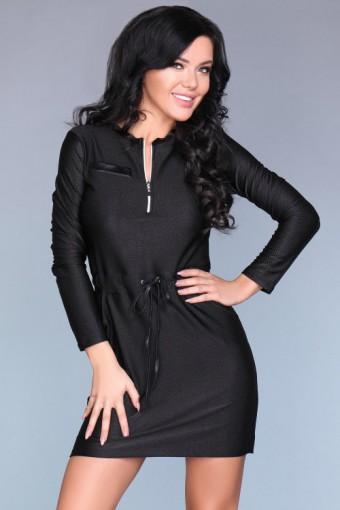 Czarna sukienka mini elegancka