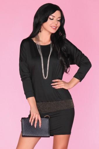 Czarna sukienka mini ołówkowa
