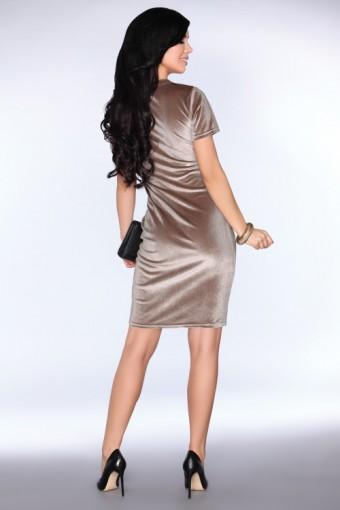 Welurowa sukienka