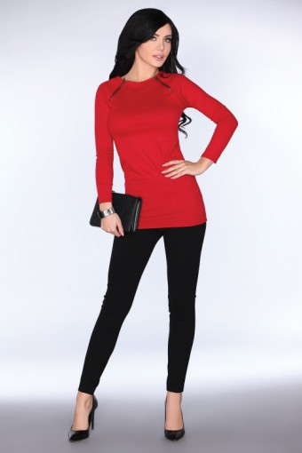 Tunika dzianinowa czerwona
