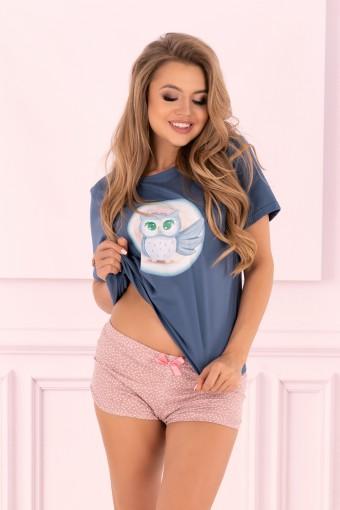 Bawełniana piżama z krótkim rękawem