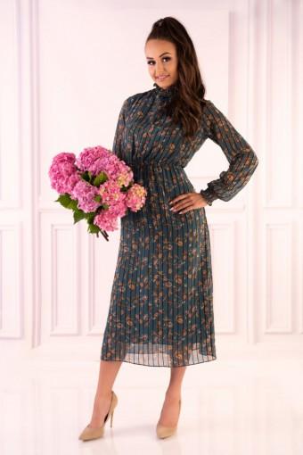 Sukienka tiulowa midi w kwiaty