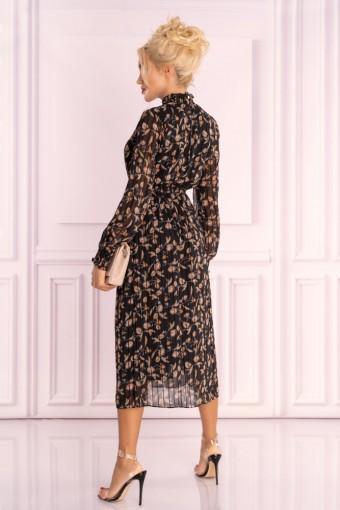 Sukienka midi ze stójką