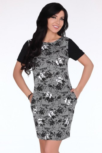 Czarno biała sukienka mini