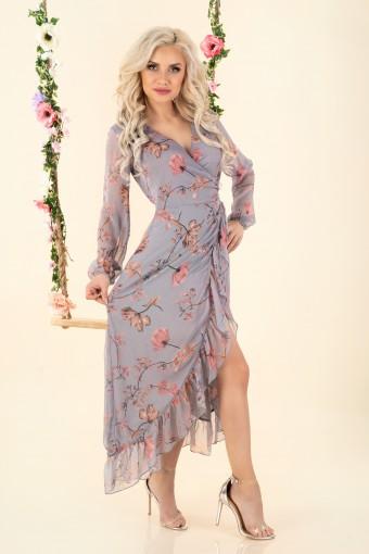 Szyfonowa sukienka w kwiaty