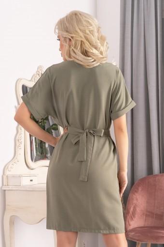 Sukienka szmizjerka khaki