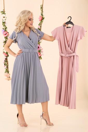 Sukienka midi plisowana