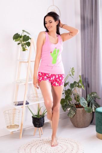 Bawełniana piżama na szerokich ramiączkach
