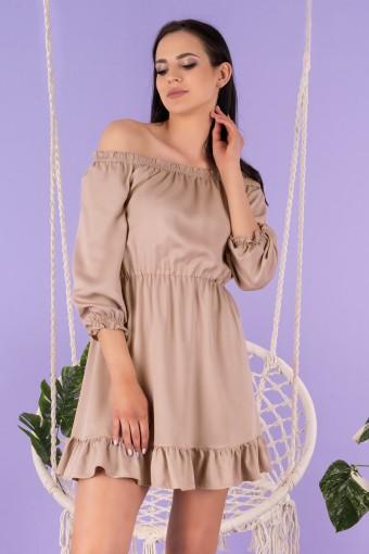 Brązowa sukienka hiszpanka