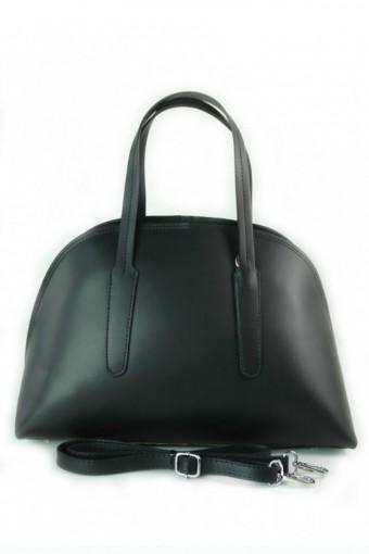Torebka skórzana kuferek czarny