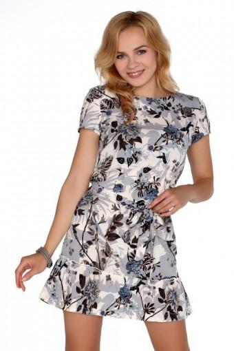 Sukienka mini z falbanką