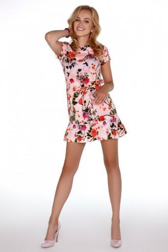 Sukienka mini w kwiaty
