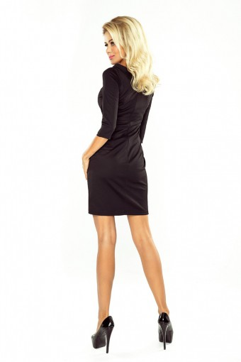 Elegancka czarna sukienka mini ołówkowa