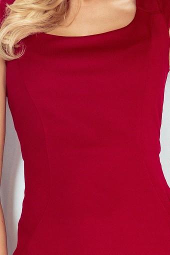 Bordowa sukienka dopasowana