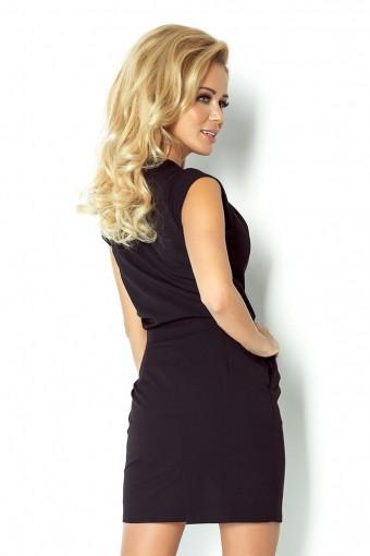 Sukienka mała czarna dopasowana