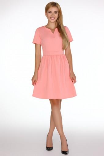 Sukienka dekolt v rozkloszowana