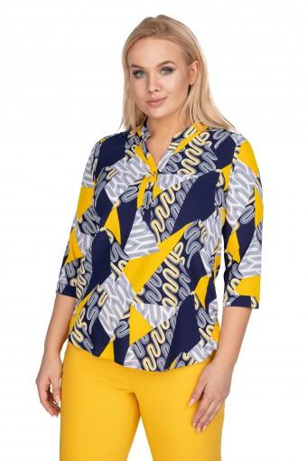 Bluzka koszulowa z dekoltem w serek