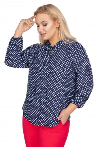 Bluzka koszulowa z wiązaniem
