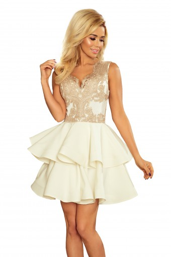 Sukienka na wesele mini rozkloszowana