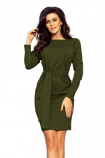 Zielona sukienka bawełniana ołówkowa