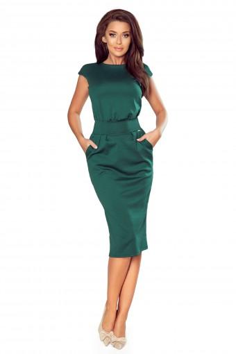 Zielona sukienka ołówkowa midi