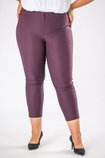 Fioletowe spodnie z wyskokim stanem