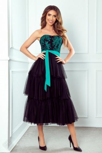 Sukienka midi z tiulowym dołem