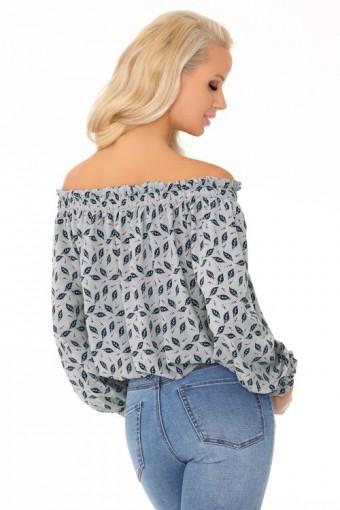 Elegancka bluzka z odkrytymi ramionami