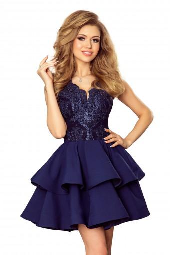 Granatowa sukienka wieczorowa mini