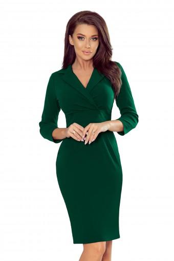 Zielona sukienka z kopertowym dekoltem