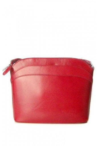 Czerwona torebka skórzana listonoszka
