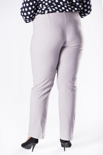 Szare spodnie z prostymi nogawkami