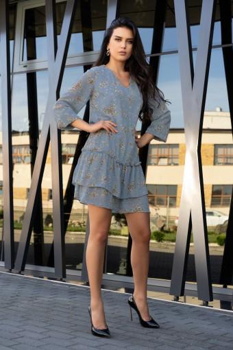 Elegancka sukienka z falbankami