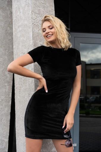 Dopasowana sukienka mini czarna