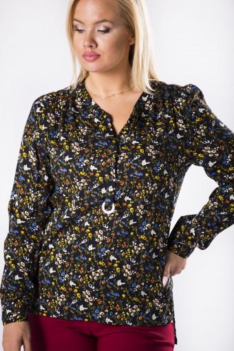 Bluzka koszulowa z guzikami na biuście