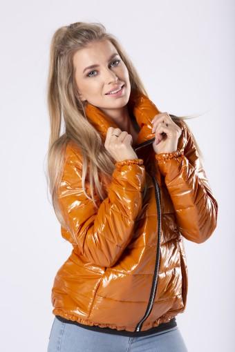 Pomarańczowa kurtka błyszcząca