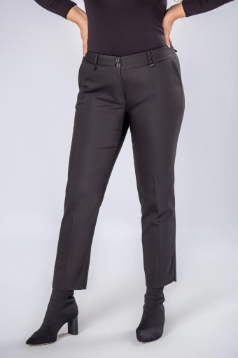 Eleganckie spodnie z wysokim stanem