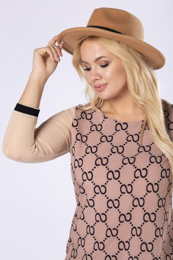 Elegancka bluzka z prześwitującymi rękawami