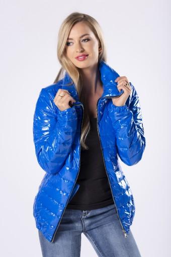 Niebieska kurtka błyszcząca