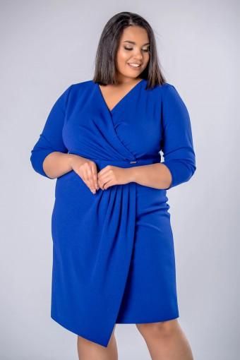 Niebieska sukienka kopertowa
