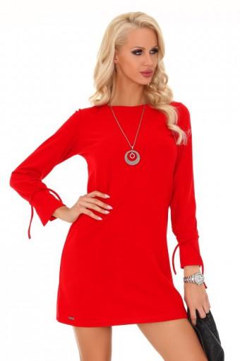 Sukienka trapezowa czerwona