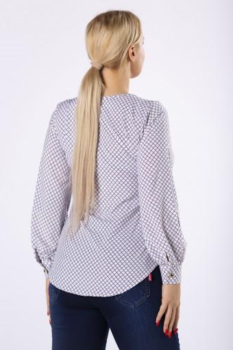 Bluzka koszulowa z lekko bufiastymi rękawami
