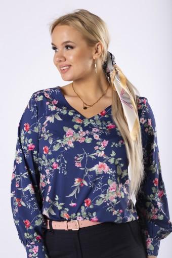 Elegancka bluzka koszulowa z rozciętymi rękawami