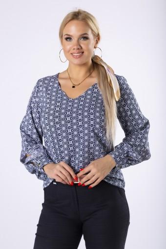 Elegancka bluzka koszulowa z dekoltem V
