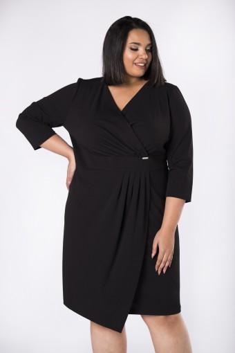 Czarna sukienka kopertowa