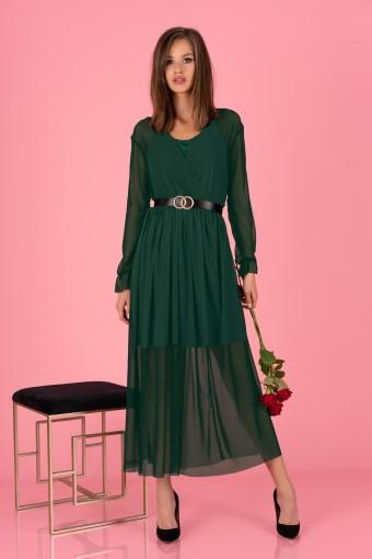 Zielona sukienka szyfonowa