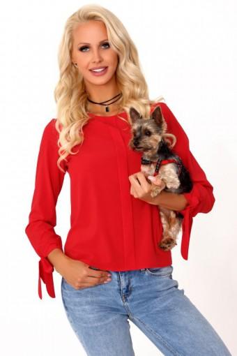 Czerwona elegancka bluzka