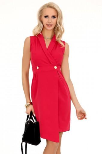 Sukienka asymetryczna czerwona