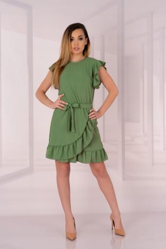 Zielona sukienka bez rękawów