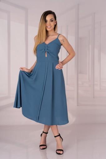 Sukienka midi na ramiączkach